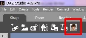 Daz Studio4.6のツールバーにGenesisアイコンを追加する。