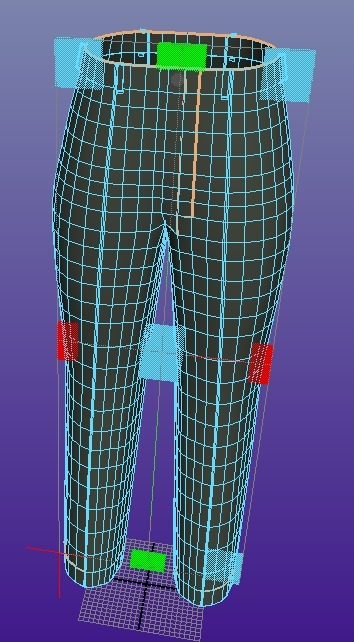 【3d】ズボンを作る3 【Autodesk Maya 2014】ポリゴン習熟5