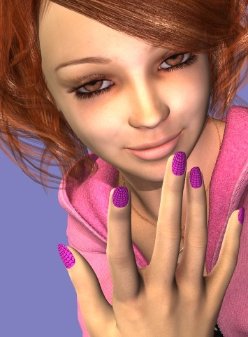 【Daz Studio4.6.2】Burnish and Bright Nailsの使い方♪【マニキュア簡単作成ツール♪】